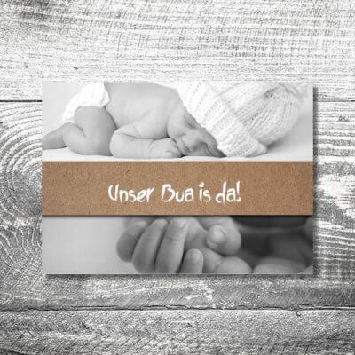 kartlerei karten drucken geburtskarten drucken babykarten bayrisch geburt banderole 400x400 - Banderole | 2-Seitig | ab 0,70 €