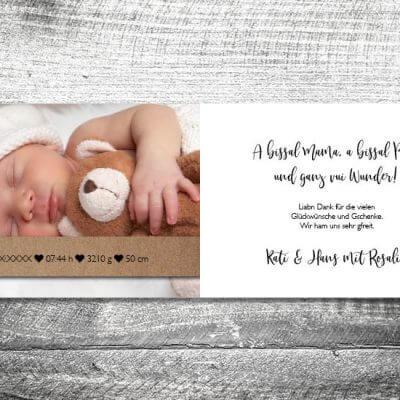 kartlerei karten drucken geburtskarten drucken babykarten bayrisch geburt banderole punkte 2 3 400x400 - Banderole Punkte | 4-Seitig | ab 1,00 €