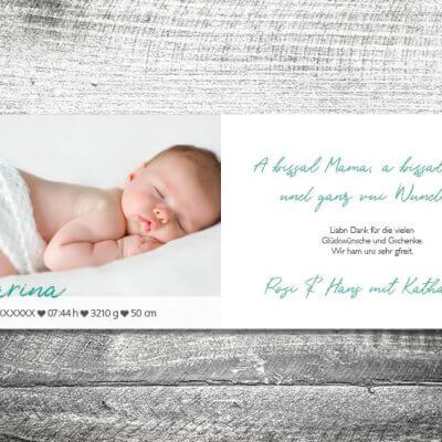 kartlerei karten drucken geburtskarten drucken babykarten bayrisch geburt herzlogo 2 3 400x400 - Herzlogo | 4-Seitig | ab 1,00 €
