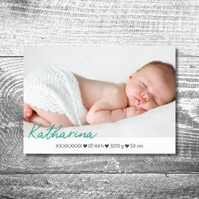 kartlerei karten drucken geburtskarten drucken babykarten bayrisch geburt herzlogo 2 400x400 - Herzlogo | 2-Seitig | ab 0,70 €