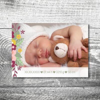 kartlerei karten drucken geburtskarten drucken babykarten bayrisch geburt hirschchen 2 400x400 - Hirschchen | 2-Seitig | ab 0,70 €