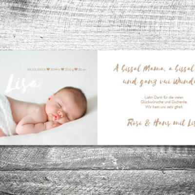 kartlerei karten drucken geburtskarten drucken babykarten bayrisch geburt holzhzerz 2 3 400x400 - Holzherz | 4-Seitig | ab 1,00 €