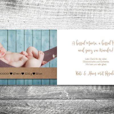 kartlerei karten drucken geburtskarten drucken babykarten bayrisch geburt kraftpapier 2 3 400x400 - Kraftpapier | 4-Seitig | ab 1,00 €