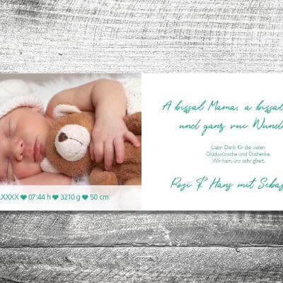 kartlerei karten drucken geburtskarten drucken babykarten bayrisch geburt lausbua 2 3 400x400 - Lausbua | 4-Seitig | ab 1,00 €