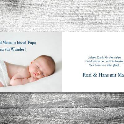 kartlerei karten drucken geburtskarten drucken babykarten bayrisch geburt lebkuchenherz junge 2 3 400x400 - Lebkuchenherz Bua | 4-Seitig | ab 1,00 €
