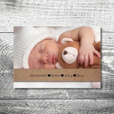 kartlerei karten drucken geburtskarten drucken babykarten bayrisch geburt stickherz 2 400x400 - Stickherz | 2-Seitig | ab 0,70 €