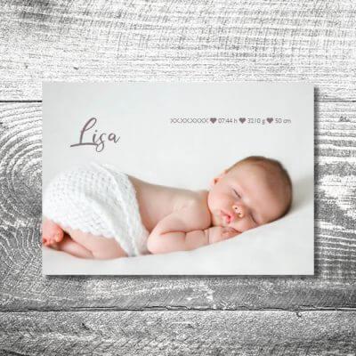 kartlerei karten drucken geburtskarten drucken babykarten bayrisch geburt vintage 2 400x400 - Vintage Baby | 2-Seitig | ab 0,70 €