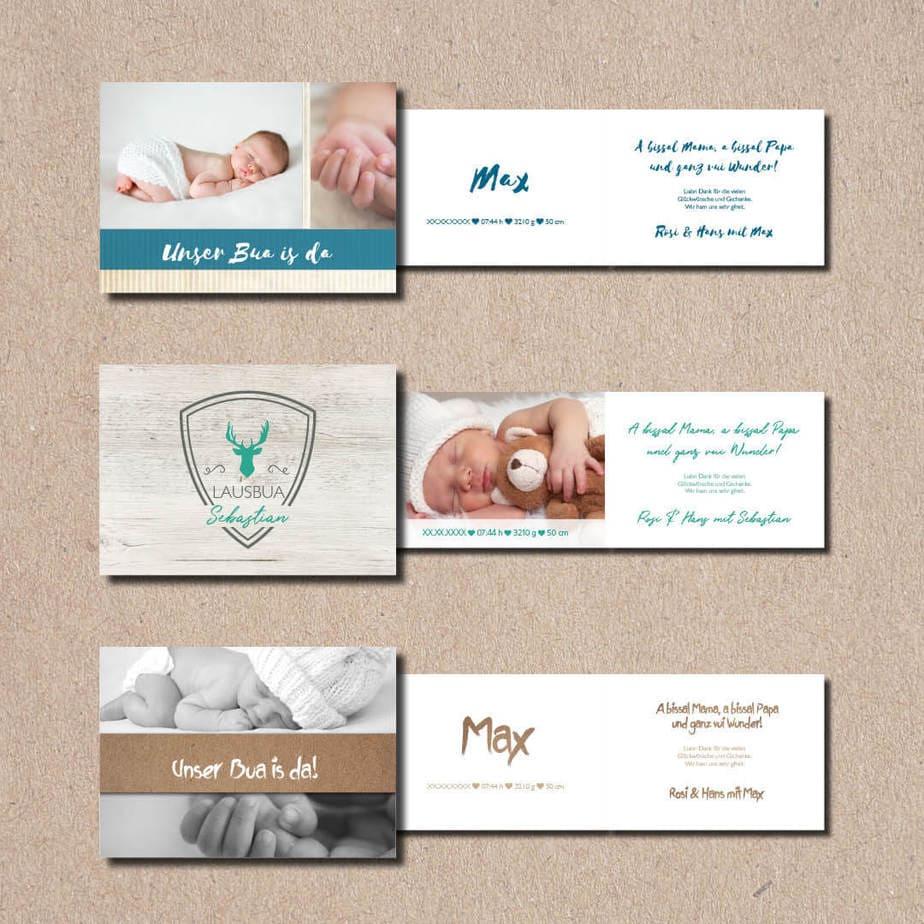 kartlerei bayrische geburtskarten baby kind karten drucken gestalten 4.jpg - Geburtskarten auf Bayrisch