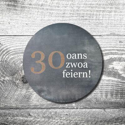 Bierdeckel Oans Zwoa Feiern
