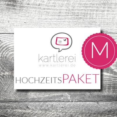 kartlerei karten drucken hochzeitskarten hochzeitspaket2 400x400 - Hochzeit  Hochzeitspaket M