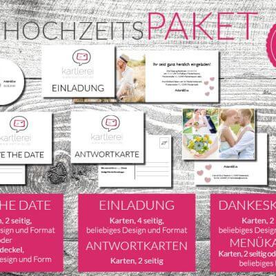 kartlerei karten drucken hochzeitskarten hochzeitspaket6 400x400 - Hochzeit  Hochzeitspaket L