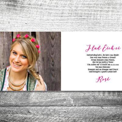 kartlerei karten drucken bayern geburtstagseinladungskarten bayrisch heimatgefuehl banderole flower 2 3 400x400 - Banderole Flower | 4-Seitig | ab 1,00 €