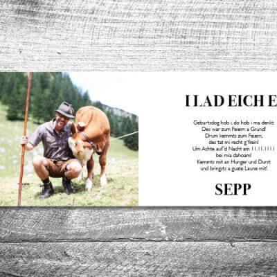 kartlerei karten drucken bayern geburtstagseinladungskarten bayrisch heimatgefuehl da schaugst 2 3 400x400 - Da schaugst | 4-Seitig | ab 1,00 €