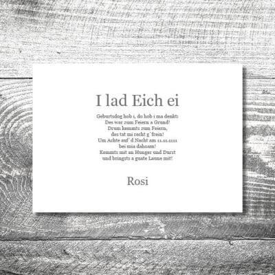 kartlerei karten drucken bayern geburtstagseinladungskarten bayrisch heimatgefuehl oans zwoa feiern 2 400x400 - Oans Zwoa Feiern | 2-Seitig | ab 0,70 €