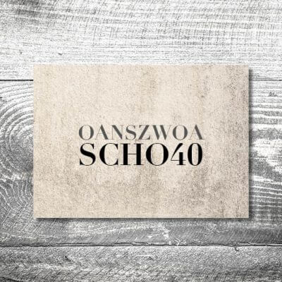 Oans Zwoa Scho | 2-Seitig | ab 0,70 €