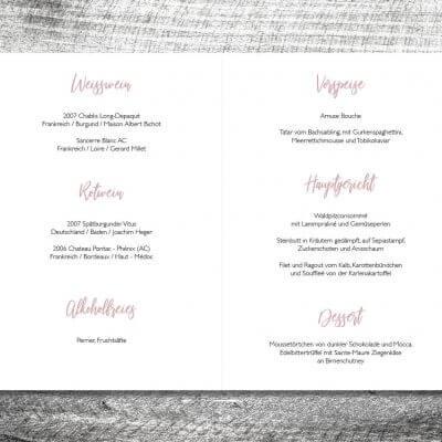 kartlerei karten drucken hochzeit heiraten menue menuekarte leinenhirsch 2 3 1 400x400 - Menükarte Leinenhirsch