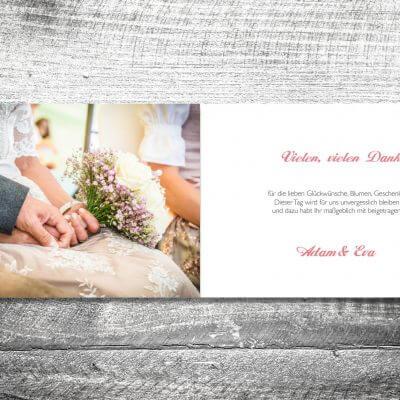 kartlerei karten drucken hochzeitseinladung heiraten bayrisch heimatgefuehl banderole hirsch danke 2 3 400x400 - Danke Banderole Hirsch | 4-Seitig | ab 1,00 €