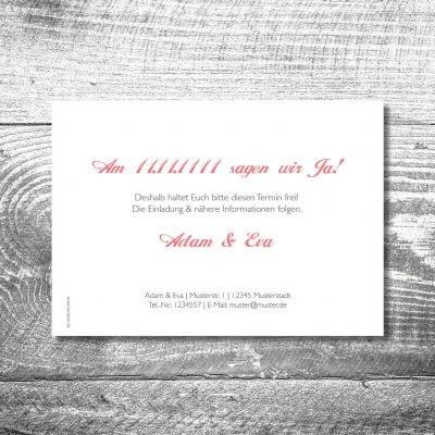 kartlerei karten drucken hochzeitseinladung heiraten bayrisch heimatgefuehl banderole hirsch save the date 2 400x400 - Save the Date Banderole Hirsch | 2-Seitig | ab 0,70 €