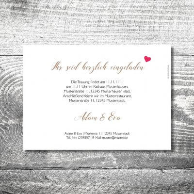 kartlerei karten drucken hochzeitseinladung heiraten bayrisch heimatgefuehl herzhirsch einladung 2 400x400 - Hochzeit Herzhirsch | 2-Seitig  | ab 0,70 €
