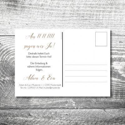 kartlerei karten drucken hochzeitseinladung heiraten bayrisch heimatgefuehl herzhirsch save the date postkarte 400x400 - Save the Date Herzhirsch Postkarte | 2-Seitig | ab 0,70 €