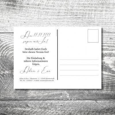 kartlerei karten drucken hochzeitseinladung heiraten bayrisch heimatgefuehl hirsch rosegold save the date postkarte 400x400 - Save the Date Hirsch Rosegold Postkarte | 2-Seitig | ab 0,70 €