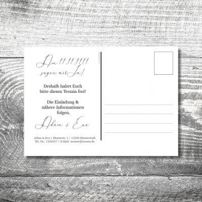 Save the Date Hirsch Rosegold Postkarte | 2-Seitig | ab 0,70 €