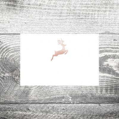 kartlerei tischkarte hochzeit hirsch rosegold 400x400 - Tischkarte Hirsch Rosegold
