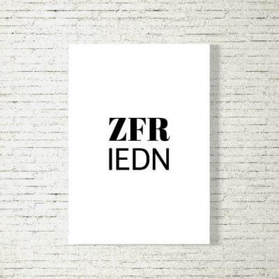 Poster/Bild Zufriedn