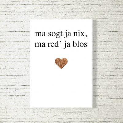 Poster/Bild Ma red a blos