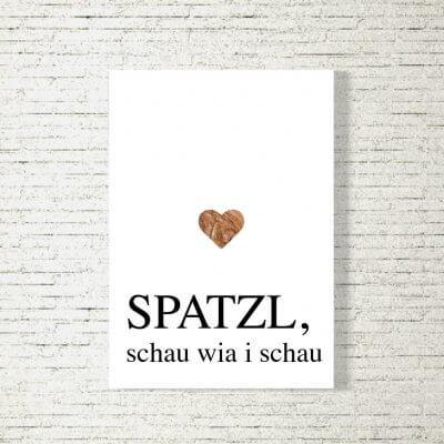 Poster/Bild Spatzl schau