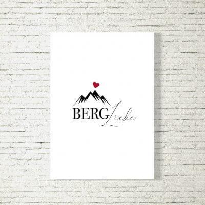 Poster/Bild Bergliebe Herz
