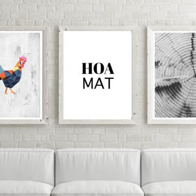 Poster-Set Hoamat Huhn