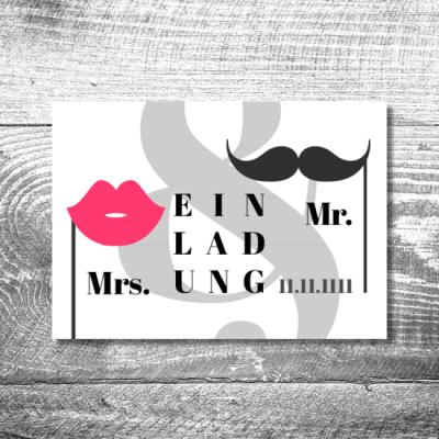 Hochzeit Mrs/Mr | 2-Seitig | ab 0,70 €