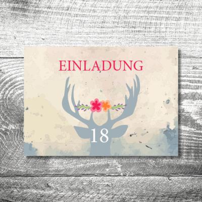 Blumenhirsch 18 | 4-Seitig | ab 1,00 €