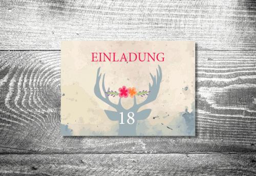 Blumenhirsch 18 | 2-Seitig | ab 0,70 €