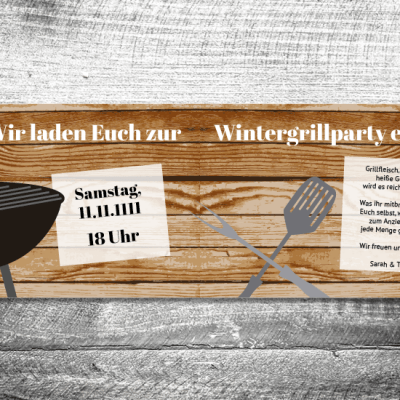 Wintergrillen | 4-Seitig | ab 1,00 €