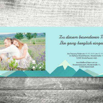 Hochzeit Berge | 4-Seitig | ab 1,00 €