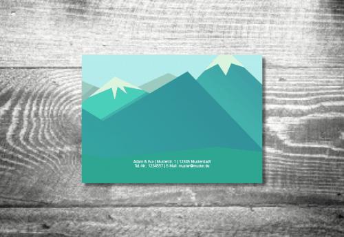Hochzeit Berge | 4-Seitig