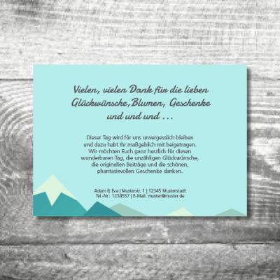 Danke Berge | 2-Seitig