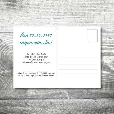 Save the Date Berge Postkarte | 2-Seitig | ab 0,70 €
