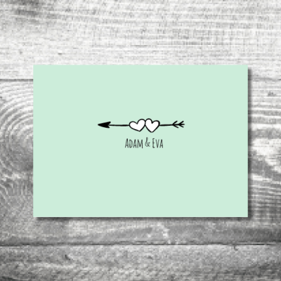 Save the Date Amor | 2-Seitig | ab 0,70 €
