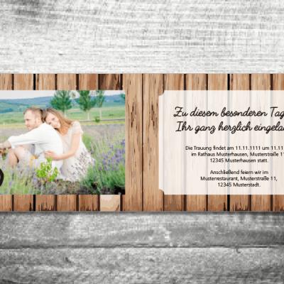 Hochzeit Holz | 4-Seitig | ab 1,00 €