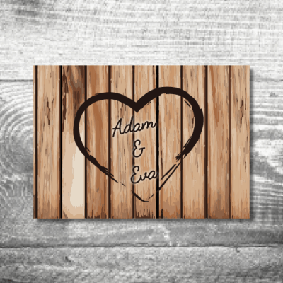 Save the Date Holz | 2-Seitig | ab 0,70 €