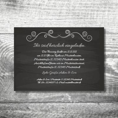 Hochzeit Tafel | 2-Seitig