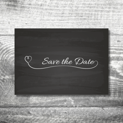 Save the Date Tafel | 2-Seitig | ab 0,70 €