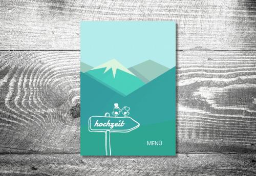 Menükarte Berge