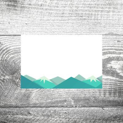 Tischkarte Berge
