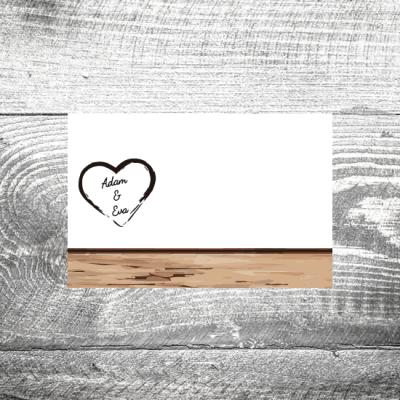 Tischkarte Holz