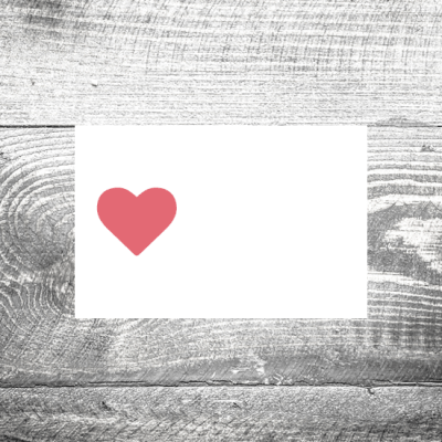 Tischkarte Herz