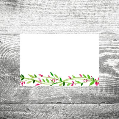 Tischkarte Blumenkranz
